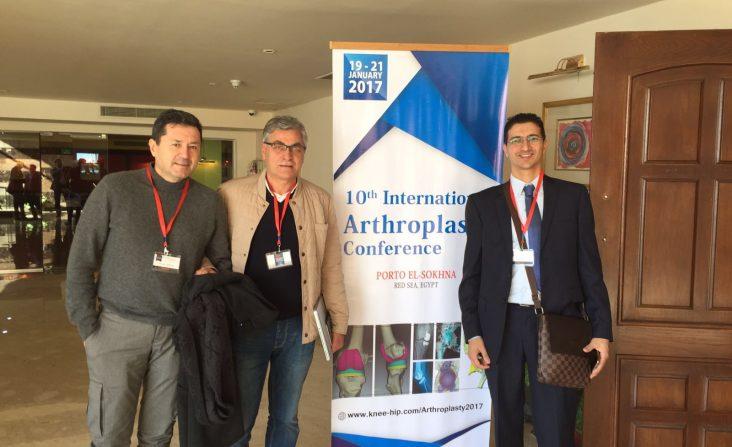 I chirurghi PBS Bianchi, Ferranti, Samer alla conferenza al cairo